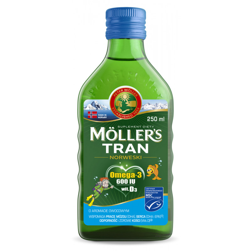 MOLLERS Tran Norweski owocowy płyn 250ml